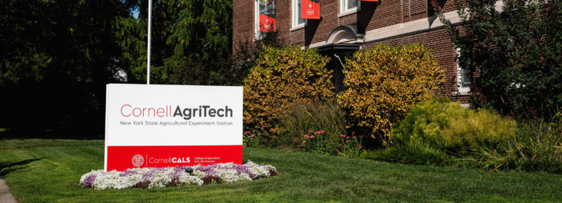 Cornell CALS AgriTech Jordan Hall exterior sign