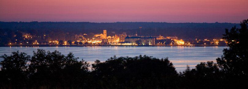 Geneva, New York at Night