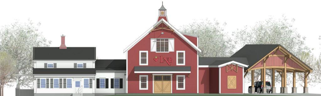 Rendering of LNB's new Farmington branch opening this spring