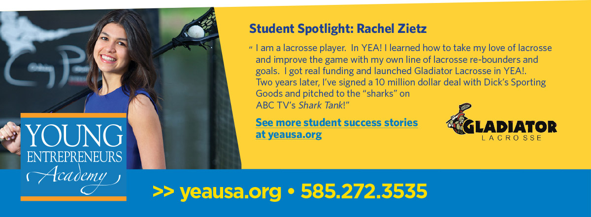 Young Entrepreneurs Academy, Student Spotlight graphic